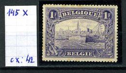 Belgique  N° 145 X - 1915-1920 Albert I