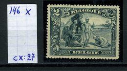 Belgique  N° 146 X - 1915-1920 Albert I