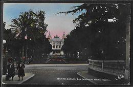 CPA MONACO - Monte-Carlo, Les Jardins Au Fond Le Casino - Monte-Carlo