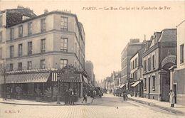 PARIS-75019-LA RUE CURIAL ET LA FONDERIE DE FER - Arrondissement: 19