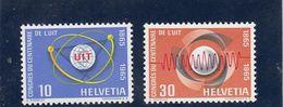 Suisse - Année 1965 - Neuf** - N°YT 756**/57** - Centenaire De L'U I T - Suisse