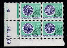 Coin Daté N** Du Preoblitere YV 125 Du 28.11.69 - Vorausentwertungen