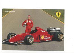 24984 - Pilote De Course Michael Schumacher Ferrari Signature Verso (format 10X15) - Grand Prix / F1