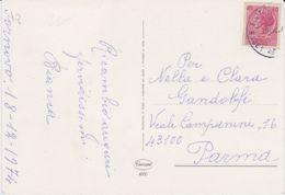 1974 -  CARTOLINA AUGURALE AFFRANCATA CON RITAGLIO DI INTERO POSTALE DA LIRE 40 - - 1971-80: Marcophilie