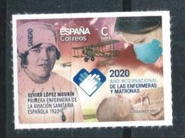 ESPAÑA 2020 ** ELVIRA LOPEZ MOURIN. 2020 AÑO INTERNACIONAL DE LAS ENFERMERAS Y MATRONAS - 1931-Oggi: 2. Rep. - ... Juan Carlos I