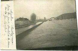 ACCOLAY - TRES RARE Et EXCEPTIONNELLE CARTE PHOTO - LA CRUE Du 20 JANVIER 1910  - - Autres Communes
