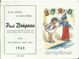 CALENDRIER PETIT FORMAT 1960 - Illustration Germaine BOURET - Small : 1941-60