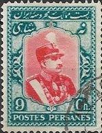 1929 Riza Sh Ah Pahlavi - 9c - Red And Blue FU - Iran
