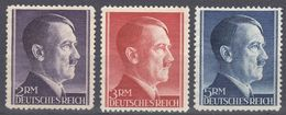 ALLEMAGNE -  DEUTSCHLAND - GERMANIA - 1941/1942 - Tre Valori Nuovi Senza Gomma: Yvert 724/726. - Nuovi
