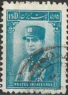 1935 Riza Sh Ah Pahlavi - 15d - Blue FU - Iran