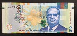 BAHAMAS 10 DOLLARS BANKNOTE 2016 UNC P-79 - Bahamas