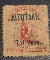 AITUTAKI 1903 ,  TAI (1) PENE REDD - Aitutaki