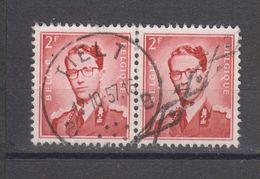 COB 925 En Paire Oblitération Centrale TIELT - 1953-1972 Glasses