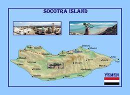Socotra Island UNESCO Map Yemen New Postcard Sokotra Insel Landkarte AK - Yemen