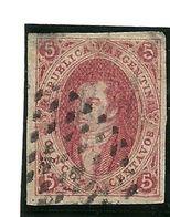 1864 - Argentina 8 Effigie - Oblitérés