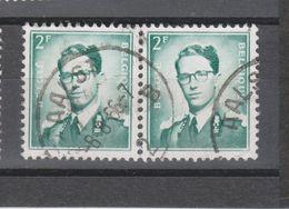 COB 1066 En Paire Oblitération Centrale AALST - 1953-1972 Glasses