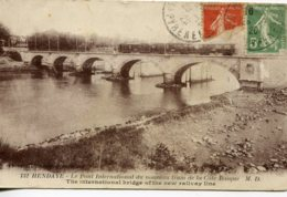 CPA - HENDAYE - PONT INTERNATIONAL DU NOUVEAU TRAM DE LA COTE BASQUE (1920) - Hendaye