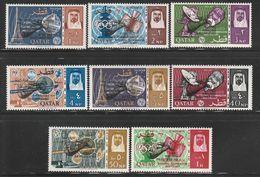 QATAR - N°94/101 ** (1966) ESPACE - U.I.T - Surcharge : Gémini VI  / VII - Qatar