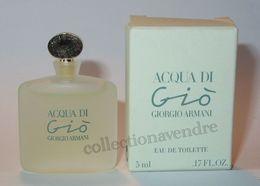 ARMANI : Acqua Di Gio Eau De Toilette 5 Ml. Version 1995. Parfait état - Modern Miniaturen (vanaf 1961)