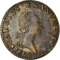 Monnaie, États Italiens, SARDINIA, Carlo Emanuele IV, 7.6 Soldi, 1800, Torino - Regionale Munten