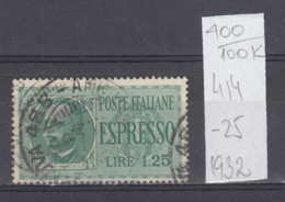 100K400 / 1932 - Michel Nr. 414 Used ( O ) Express Stamp , Italia Italy Italie Italien Italie - Usati