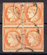 FRANCE : Y&T  N°  38  EN  BLOC  DE  DE  4   TIMBRES  OBLITERES , A  VOIR . - 1849-1876: Période Classique