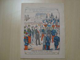 PROTEGE-CAHIER LA VIE DU PRESIDENT CARNOT FUNERAILLES NATIONALES - Book Covers