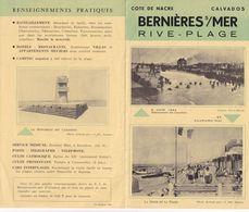 BERNIERES S/MER (Calvados) - Dépliant Touristique - 6 Juin 1944 Débarquement Des Canadiens - Reiseprospekte