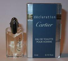 CARTIER : Déclaration  Eau De Toilette 4 Ml. Version 1988. Parfait état - Modern Miniaturen (vanaf 1961)