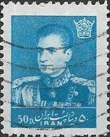 1958 Mohammed Riza Pahlavi - 50d - Blue FU - Iran