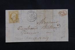 FRANCE - Lettre Incomplète De L'Isle-en-Dodon En 1854, Cachet CL, Affranchissement Napoléon 10 C, PC 1548 - L 54679 - Postmark Collection (Covers)
