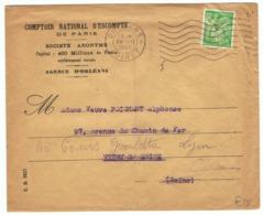 80c Iris Yvert 649 Perforé CN Sur Lettre De 1945 - 1939-44 Iris