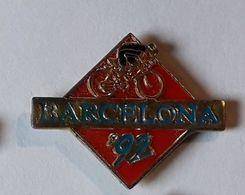 A281 Pin's JO Jeux Olympiques Barcelona Barcelone Espagne Cyclisme Vélo  Achat Immédiat - Jeux Olympiques
