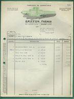 42 Roanne Griffon Freres Fabrique De Bonneterie ( Facture Pour Veste Polo Dame ) 1958 - Textile & Clothing