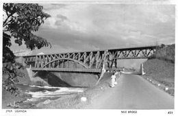 Uganda Nile Bridge African Real Photo Old Postcard - Ouganda