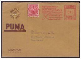 Dt-Reich (007625) Auslandsfirmenbrief Teilbarfrankatur!! Freistempel Puma Solingen, Gelaufen 27.8.1938 In Die Schweiz - Germany
