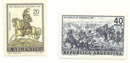 1967 - Argentina 797/98 Battaglia Di Chacabuco - Militaria