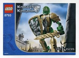 Notice De Montage Lego - Knights' Kingdom - Sir Rascus - Boîte Numéro 8793 - Ontwerpen