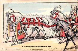 2 Cartes à La Coronation (sacre) D'Edward 7 (roi D'Angleterre) - Histoire