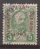 1-ALB  1905  MONTENEGRO CRNA GORA NIKOLA I OVERPRINT DAMAGED USED - Montenegro