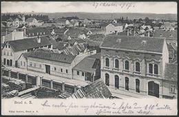Croatia / Hrvatska: Brod Na Savi (Slavonski Brod / Brod / Broth An Der Save), General View And Synagogue  1917 - Croatia
