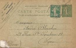 13 - MARSEILLE - Cart. Commerciale Timbre Perforés Entier  - Sibert . Ripper Frères & Cie - Prod. Chimiq. Phar. Drogues. - Autres