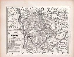 Carte Du Département De La Nièvre - Mapas Geográficas