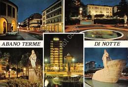 Cartolina Abano Terme Vedute Notturno - Padova