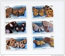 Papillons-ICap Vert-1999-YT 726/31+B28***MNH - Cape Verde