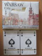 PIATNIK Austria Pour PEKAES - Coffret De 2 Jeux De 54 Cartes - Ville De Varsovie (Warsaw) Pologne - Neufs Sous Blister - 54 Cards