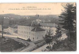 CPA 69 Cours L'usine Du Moulin Et Vue Générale De Laville - Cours-la-Ville