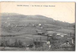 CPA 69 Cours La Riviere Et Village Bauland - Cours-la-Ville