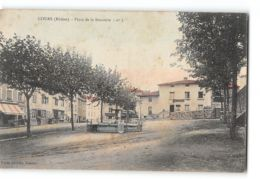 CPA 69 Cours Place De La Bouverie - Cours-la-Ville