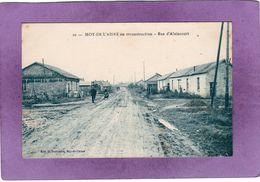 02 MOY De L'AISNE En Reconstruction Rue D'Alaincourt - Autres Communes